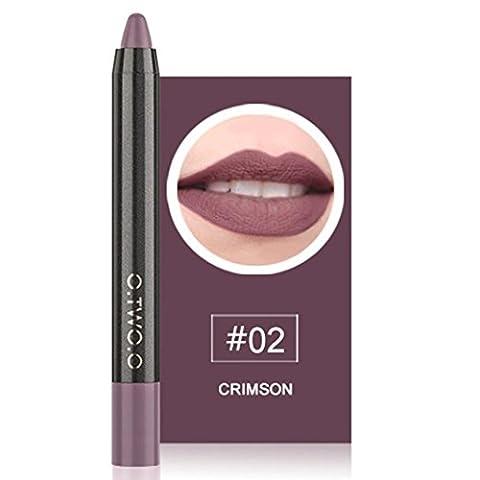 JIANGFU Schwarzer Goldcharme Samt matt Lippenstift,12 Farben Langlebige Lippenstift Wasserdichte