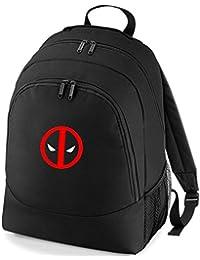 Mr Deadpool Antihero embroidered black backpack rucksack