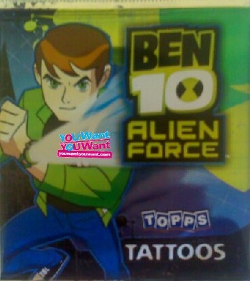 Image of Ben 10 Alien Force Temporary Tattoos