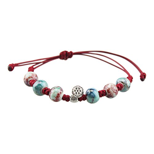 foy-mall-fashion-alloy-lotus-seed-pod-pendant-underglaze-red-ceramic-beads-bracelet-for-women-girls-