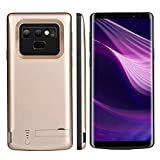 Banath Akku hülle Kompatibel mit Samsung Galaxy Note 9, 5000mAh Ultra dünnes Akku Case Handyhülle[Stoßfest][Anti-Kratz][Ganzkörperschutz] Extern Akkupack Power Bank Backup Cover(Golden)