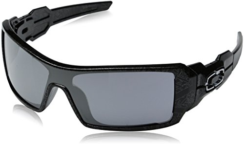 Oakley Sonnenbrille Oil Rig Polished Black Silver Ghost Test Black Iridium