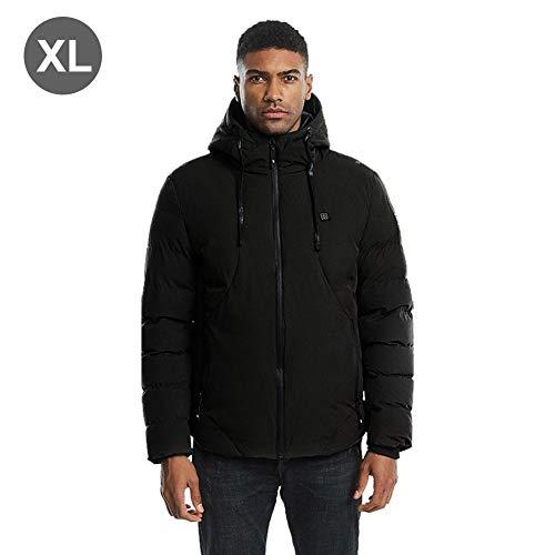 Beheizte Jacke Elektrisch beheizter Mantel USB-Ladegerät beheizt USB wiederaufladbar für Männer Kaltes Wetter Elektrische Jacke waschbar einstellbar für Skifahren im Freien Wandern Snowboating