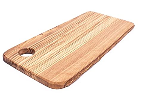 Cutting Board for Food Preparation and Presentation - Premium Natural Olive Wood Chopping Board Made in Italy