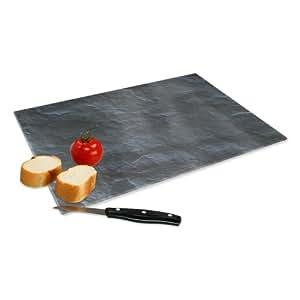 Verre xxl planche d couper avec motif en ardoise taille for Planche ardoise cuisine