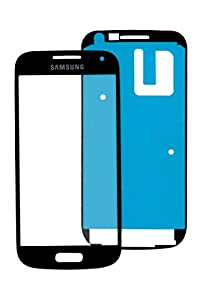 Samsung Galaxy S4 mini i8910 Glas in Schwarz: Reparatur Set *NEU* mit Glas Scheibe und Kleber, Display Black, Frontscheibe komplett, Display-glass repair kit für S4 mini, Ersatzteil für Glasscheibe