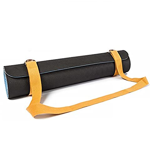 #DoYourYoga SANGLE DE TRANSPORT POUR TAPIS »Yuki« / Carrying belt for all Yoga-, Pilates and EXTRA THICK Fitness mats, useful and easy to handle, yellow (pastel