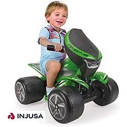 INJUSA Quad Wrestler para Niños Desde 1 a 3 Años, Batería 6V, Verde (124)
