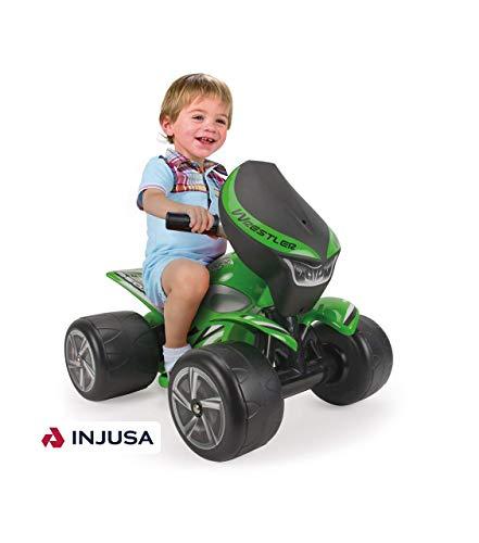 INJUSA - Quad Wrestler para niños Desde 1 a 3 años, batería 6V, Verde (124)