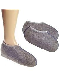 WOWERAT / 2 Paar Wowerat Stiefelsocken (sogenannte Roßhaarsocken), Spezialartikel, super warm, DEUTSCHE WARE 37 bis 38,Grau