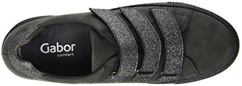 Gabor Comfort Basic, Scarpe Stringate Derby Donna Grigio (89 Dark-grey/argento)