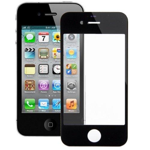 ALSATEK Remplacement Vitre Avant pour iPhone 4/4S Noir