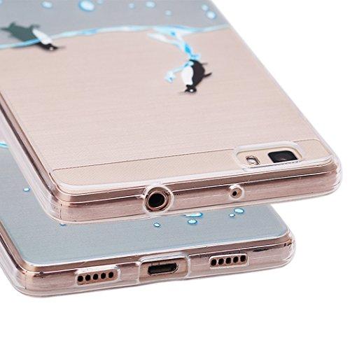 iPhone 6 6s Hüll,Asnlove Dünn Transparent Weiche Durchsichtig Gummi Schutzhülle für Apple iPhone 6 6S 4.7inch Hüll Tasche Silicon Case Handyhülle Schutz Etui Handytasche Silikon TPU Bumper Rückseiten  Pattern-3