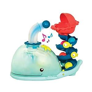 B.Toys Poppity Whale Pop BX1607Z - Balena Musical, Color Azul