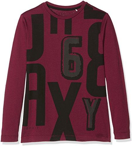 Esprit Kids Jungen Langarmshirt T-Shirt, Rot (Plum 871), 128 (Herstellergröße:XS)