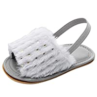 PowerFul-LOT Baby Girl Shoe 2019 New 11-15 UK White,Red,Black,Pink,Gray,Khaki Toddler Infant Baby Girls Sequins Solid Flock Soft Sandals Slipper Casual Shoes Affordable Lovely