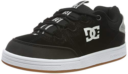 DC Shoes DCSHI Syntax-Low-Top Shoes for Boys, Zapatillas de Skateboard para Niños, Black/Grey, 38...