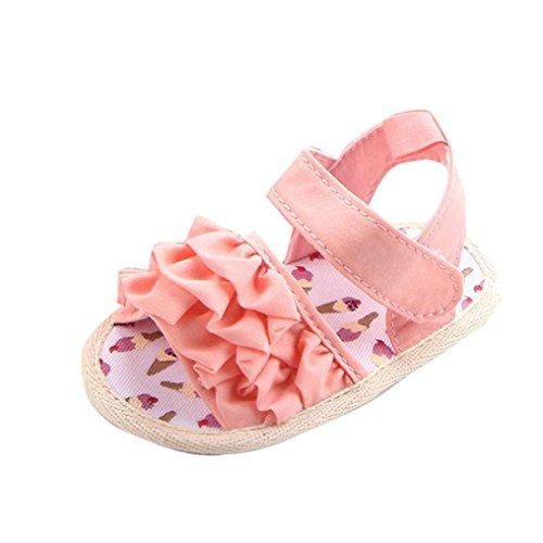 Babyschuhe Longra Kleinkind Baby Mädchen Krippe Schuhe Neugeborenen Blume weiche Sohle Anti-Rutsch-Baby Baumwolle Sneakers Lauflernschuhe Sandalen