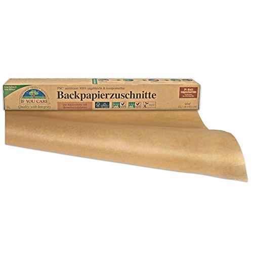 If You Care Backpapier Backblech Zuschnitte - 100% ungebleicht aus FSC Papier, 2er Pack (2 x 24 Stück)