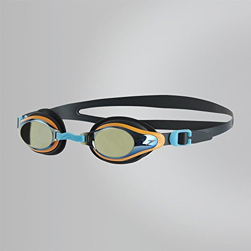 Speedo Kinder Mariner Supreme Mirror Junior Goggles, Oxid Grey/Jaffa/Titanium, One Size