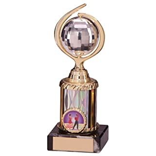 A1 PERSONALISED GIFTS 7 inch high Glitterball Disco Ball Trophy Engraving Included