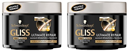 Schwarzkopf - Gliss - Masque Rparation Ultra-Cible Ultimate Repair - Pot 200 ml - Lot de2