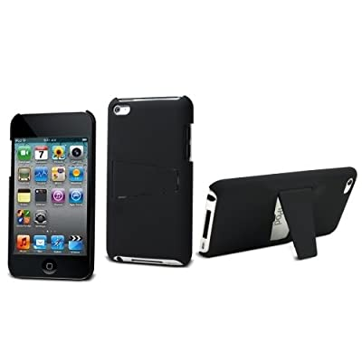 Muvit BCAA PIPT4NOIR Back Cover with Screen Protector for Apple iPod Touch 4 Black by Muvit