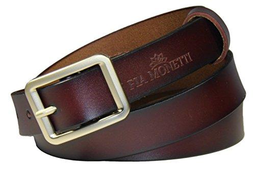 FIA MONETTI Leather belt for women, with modern buckle, width 2,3 cm