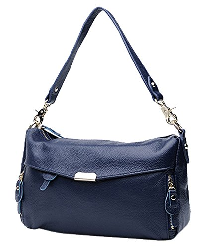 SAIERLONG Nuovo Donna Grigio Primo Strato Di Cuoio Borse spalla Crossbody Messenger Bags Blu Royal