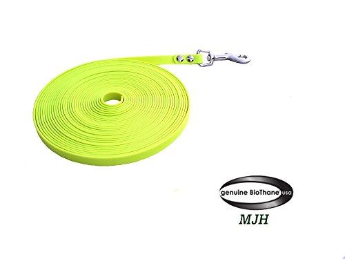 MJH BioThane Leine 2m lang/16mm Breit Neon Gelb Ohne HS