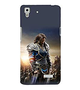 printtech Army General Game Commander Back Case Cover for Oppo R7