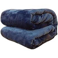 TREESTAR Mantas de bebé para niños otoño e Invierno bebé recién Nacido Copo de Nieve pequeña Manta de Pelo Manta de Siesta Size 70 * 100CM (Deep Blue)