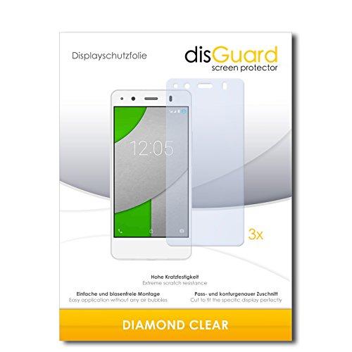 3 x disGuard® Schutzfolie BQ Readers Aquaris A4.5 Bildschirmschutz Folie