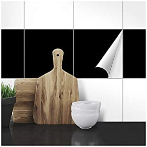 Wandkings Fliesenaufkleber - 25 x 25 cm, 20 Stück für Fliesen in Badezimmer, Küche & mehr