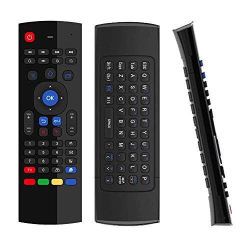 DroiX VIP V1 / MX3 Air-Mouse Remote with FULL QWERTY Keyboard for DroiX T8-SE/T8-S Plus/T8 Mini, Android TV BOX, Mini PC, HTPC, Linux