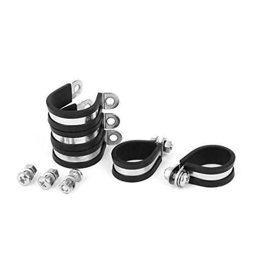 DealMux Clip 28 millimètres P caoutchouc EPDM doublé de montage 5pcs Support pour tuyau tube Câble