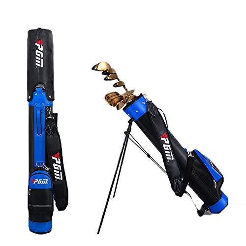 PGM Golf Stand Bag mit Halterung Gun Bag für Herren und Damen 6 Farben, 9 Clubs Support,Blue