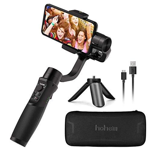 Hohem iSteady Mobile +, Smartphone Gimbal Handy Stabilisator 3-Achsen Handheld Stabilizer bis zu 280g für iPhone X XS max XR, Android...