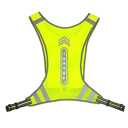 Eayse Reflektierende Weste – LED Sicherheitsweste,USB Charging Sicherheits Reflektorende fürJoggen, Fahrrad, Motorrad,Nachtarbeit 44cm