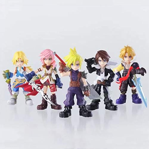 SONGDP Anime Toy Anime Characters 5 Final Fantasy Protagonists Claude Gitan Skeel Thunder Tiida Art Gift Model Character Toys10cm Comic Statue