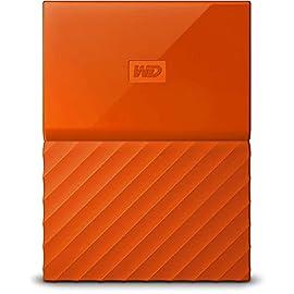 Western Digital My Passport Hard Disk Esterno Portatile, USB 3.0, Software di Backup Automatico, per PC, per Xbox One e PlayStation 4, 4 TB, Arancione