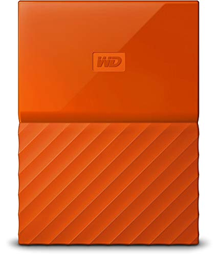 WD My Passport 4TB Portable External Hard Drive (Orange)