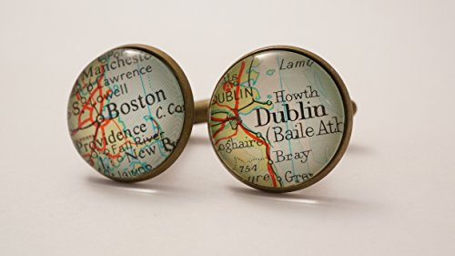 map-cufflinks-custom-vintage-maps-select-two-locations-anywhere-in-the-world-wedding-cufflinks-groom