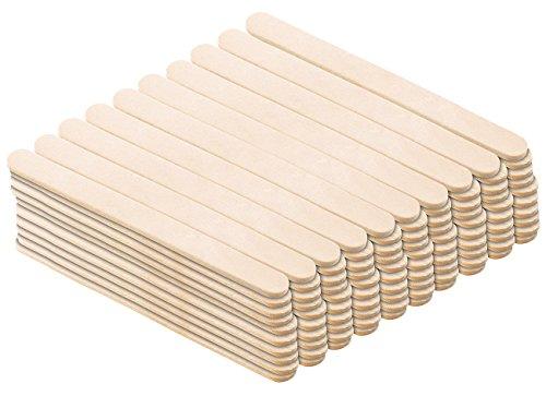 Rosenstein & Söhne Holzstäbchen: 100er-Pack Holzstiele für selbstgemachtes EIS am Stiel (Eisstiele)