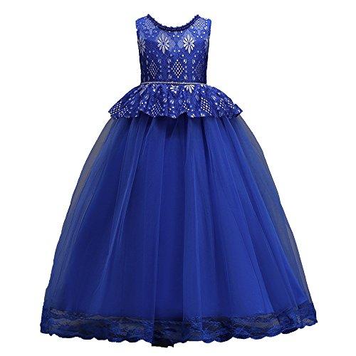 (Beikoard Mädchen Prinzessinen Kleid Kleinkind Kinder mädchen Hochzeit Blume Kleid Spitze Party formelle Kleidung Spitze durchbrochenes Kleid Langes Kleid)