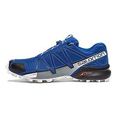 Idea Regalo - Salomon Speedcross 4, Scarpe da Trail Running Uomo, Blu (Mazarine Blue Wil/Black/White), 44 2/3 EU