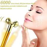 Sky God Electric 3D Rullo Strumento di Bellezza, Elettrico Bellezza Bar Anti-Aging Pulse Massager, 24K Gold Skin Cura Viso Massaggiatore Anti-Invecchiamento Macchina Snellente Guance Pelle