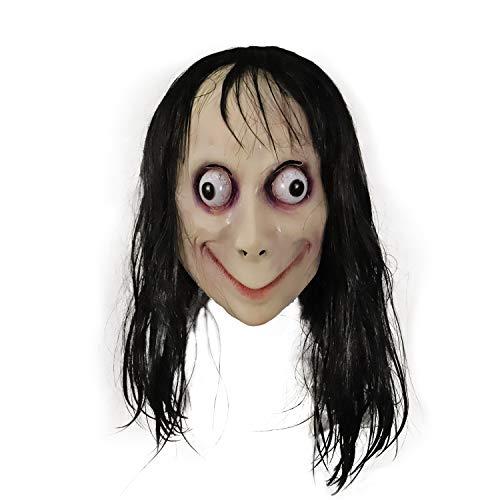 Molezu Momo LED Maske Gruselmaske Resident Evil Monster Maske Gruselige Maske für Halloween