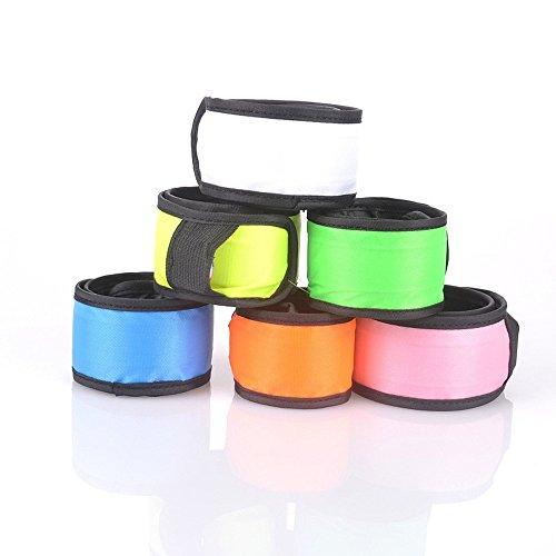 Namsan LED Slap Glow Bracelet,Visibilité Bracelet de sécurité,de course/jogging léger jusqu'à bracelet,Slap Bracelet Lit LED,haute visibilité Sports de plein air Light Up Wristband