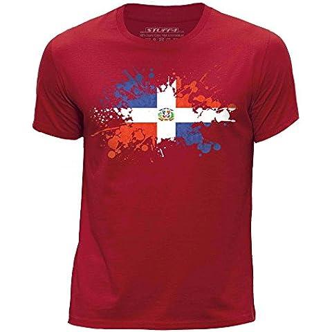 STUFF4 Ragazzi Girocollo T-Shirt/República Dominicana Bandera